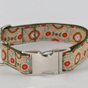 Halsbänder aus Gurtband + Baumwolle