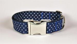 Hundehalsband Purpur blau handgefertigt