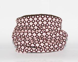 Loop-Schal rosa mit Blümchenprint für kalte und nasse Tage!