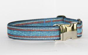 Hundehalsband Jeans India verstellbar aus Jeansstoff