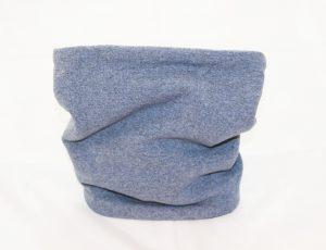 Loop-Schal hellblau Jeansoptik wärmt jeden Hundehals