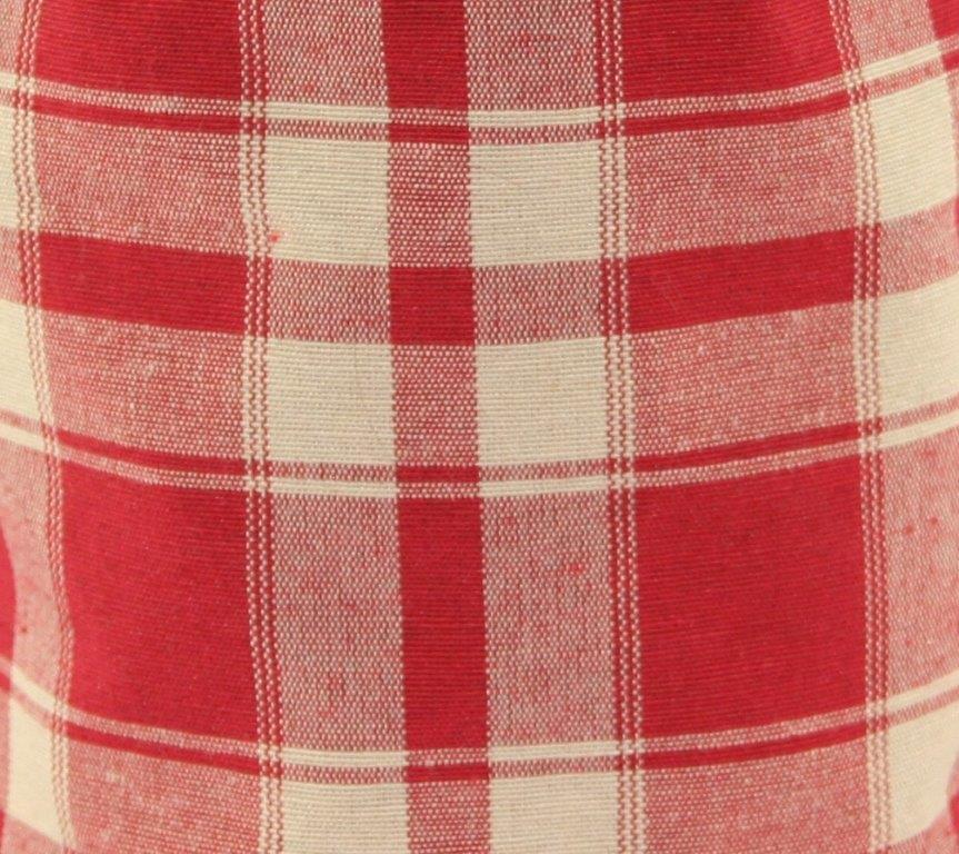 Futterbeutel aus rot-weißem Karostoff - Detailansicht