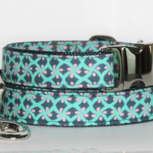 Hundehalsband und Hundeleine blau-türkis Rusty als Set ist in verschiedenen Ausführungen erhältlich