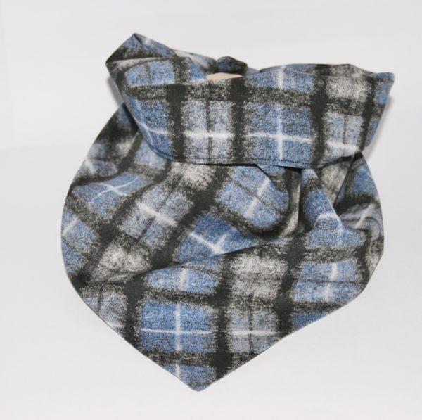 Hundehalstuch Karomuster grau-blau in 2 Größen erhältlich!