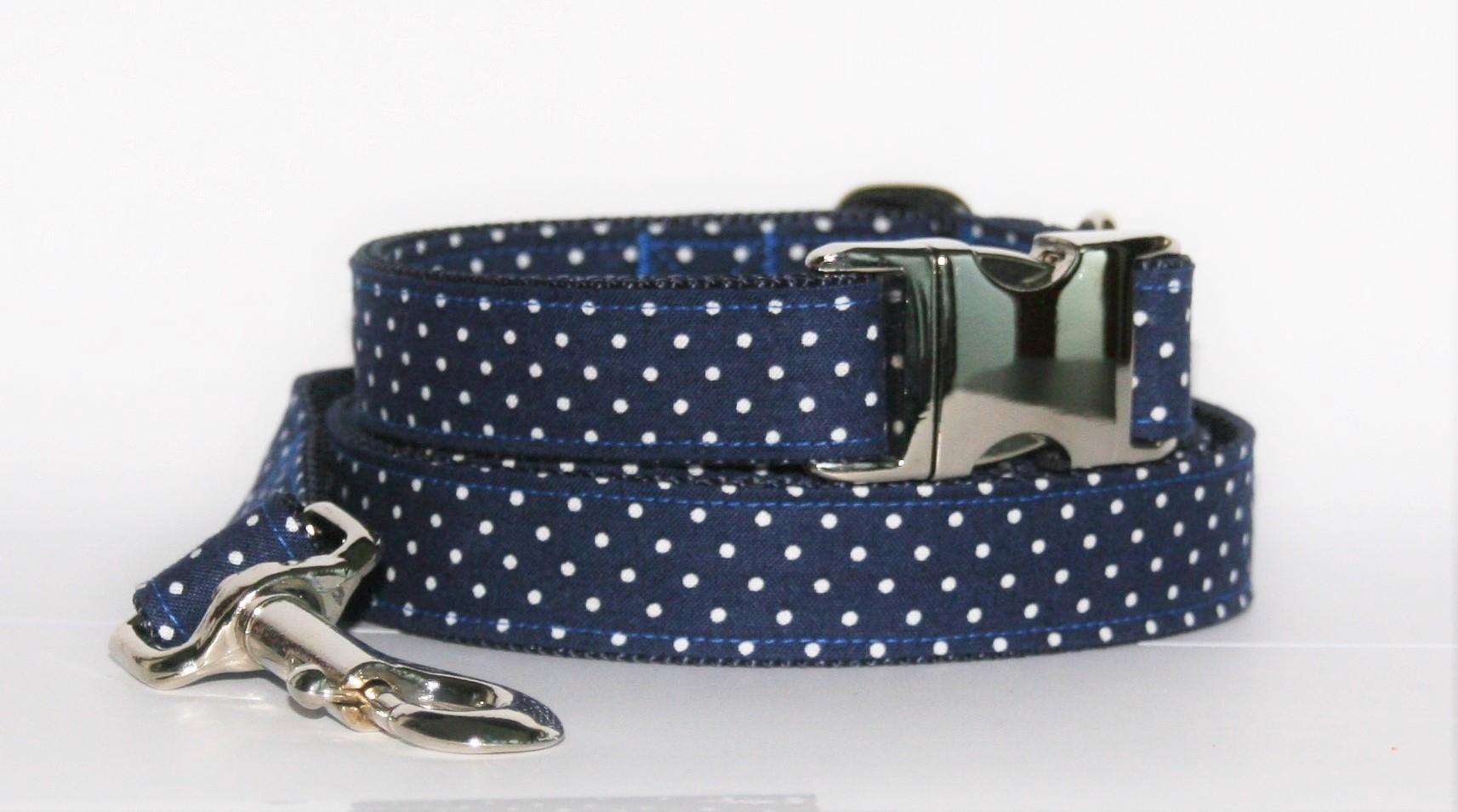 Hundehalsband und Hundeleine Purpur blau als Set in verschiedenen Ausführungen erhältlich