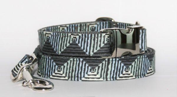 """Hundehalsband und Hundeleine mit Zackenmuster """"Spirit"""" als Set in unterschiedlichen Varianten erhältlich"""