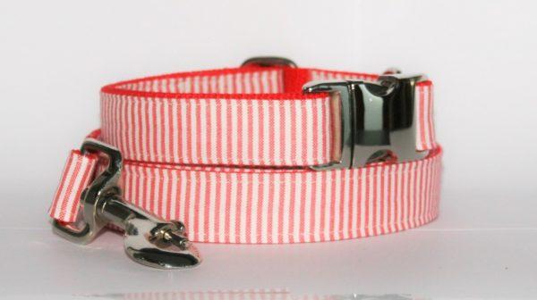Hundehalsband und Hundeleine Street rot als Set in zwei Ausführungen erhältlich