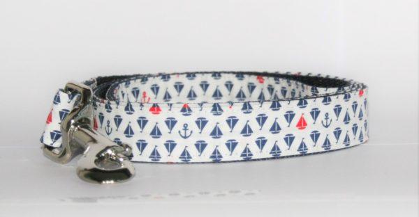 Hundeleine weiß-blau-rot Maritim in zwei Varianten erhältlich