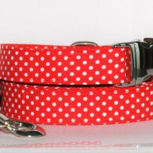 Hundehalsband und Hundeleine Purpur rot als Set in unterschiedlichen Varianten erhältlich!