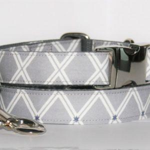 Hundehalsband und Hundeleine grau Wall als Set in unterschiedlichen Ausführungen erhältlich