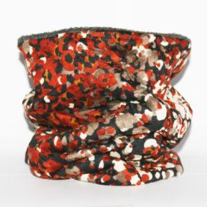 Loop-Schal rost-beige mit Fantasiemuster besonders an kalten Tagen!