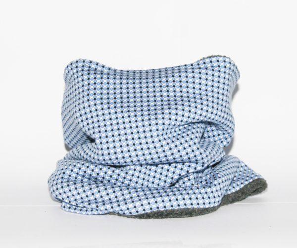 Loop-Schal mit blau-weißem Krawattenmuster für kalte und ungemütliche Tage!