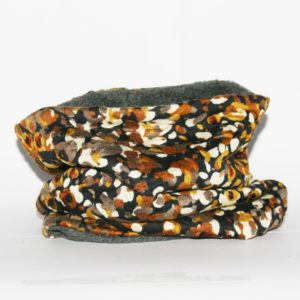 Loop-Schal braun-beige mit Fantasiemuster für kalte und ungemütliche Tage!