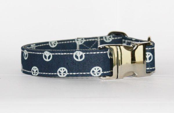 Hundehalsband Jeans Peace verstellbar