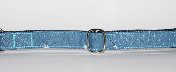 Hundehalsband Jeans Stelle mit Punkten und Sternen