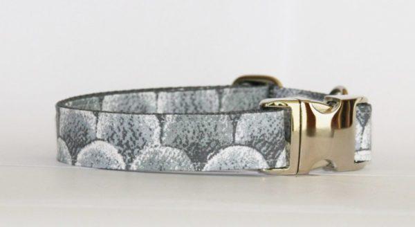 Hundehalsband grau-weiß Snake verstellbar
