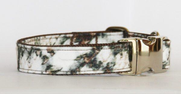 Hundehalsband beige-braun-grün Fog - der neue Herbsttrend