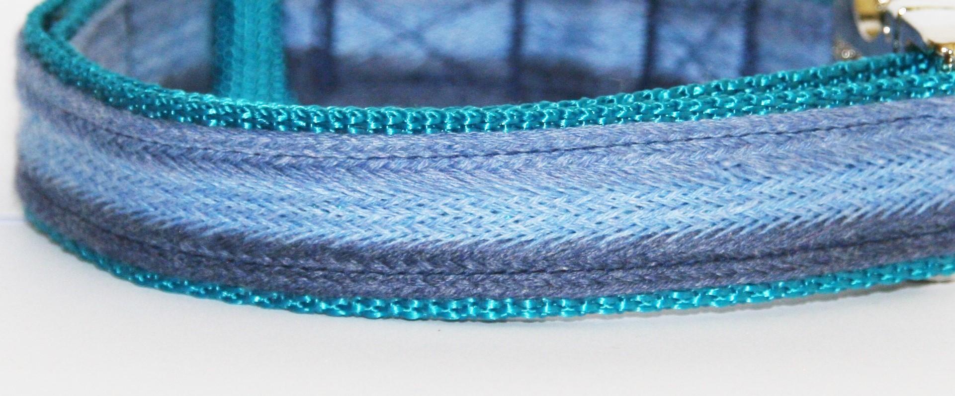 hundehalsband blau t rkis azur nelottydogs. Black Bedroom Furniture Sets. Home Design Ideas