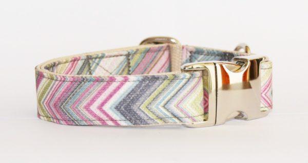 Hundehalsband pastellfarben Mossino, handgefertigt, verstellbar