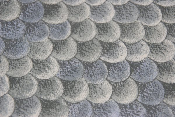 Detailansicht Stoff Hundehalstuch Reptil