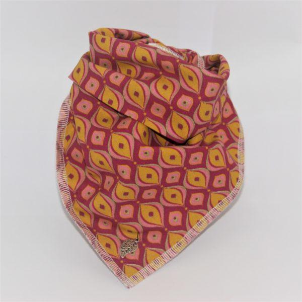 Das Hundehalstsuch Orient rot, orange ist in 3 unterschiedlichen Größen lieferbar!