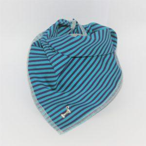 Das Hundehalstuch Street türkis, blau ist in 3 verschiedenen Größen bestellbar!