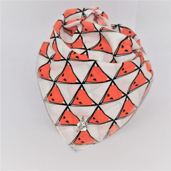 Das Hundehalstuch Foxy orange, weiß ist in 3 unterschiedlichen Größen lieferbar!