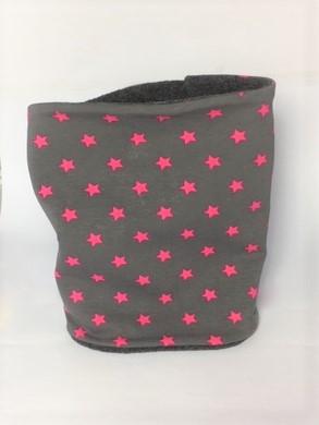 Hunde Loop grau mit Sternen in pink
